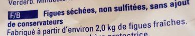 Figues séchées - Ingrédients
