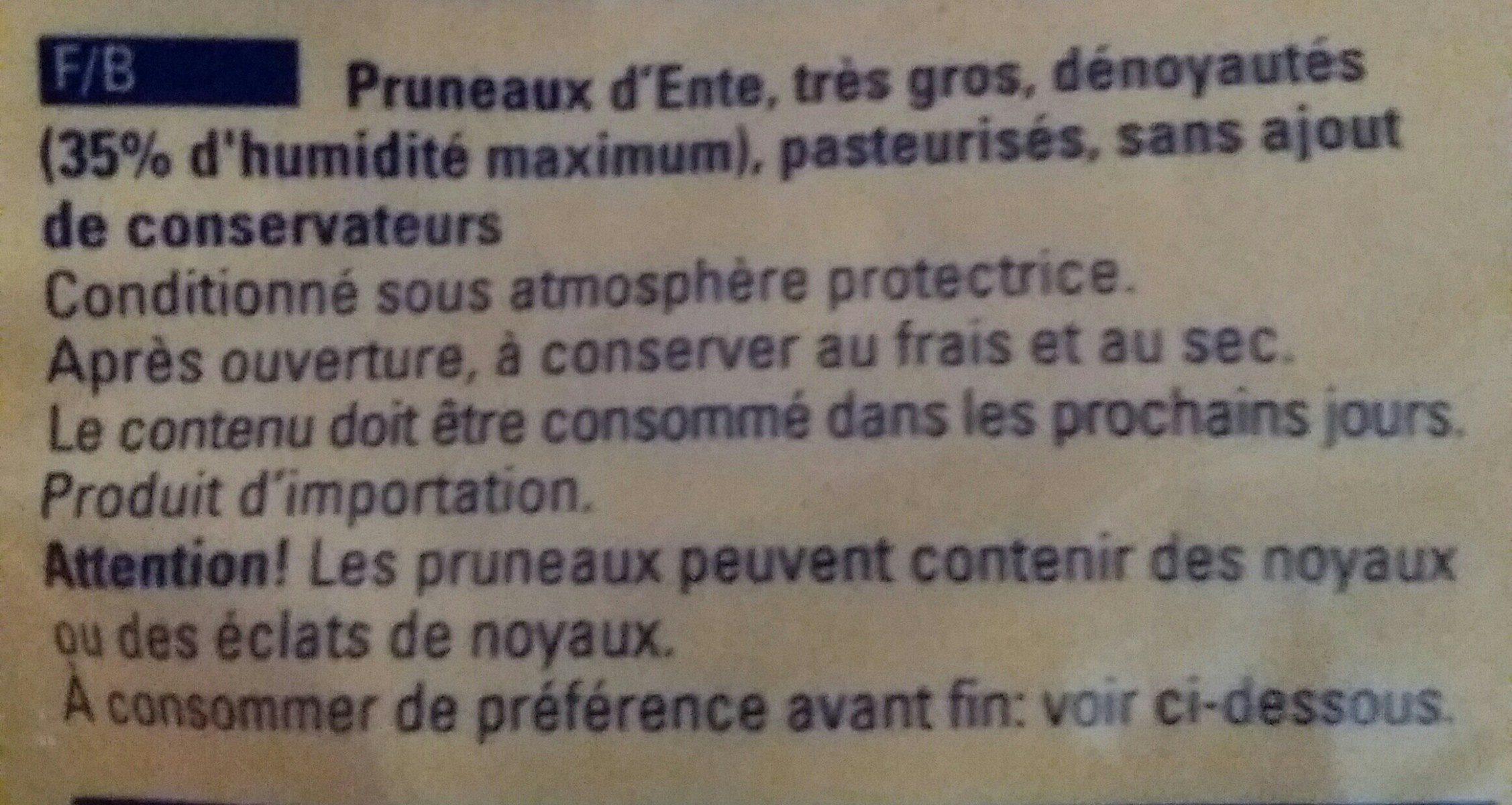 Pruneaux Softpflaumen - Ingrédients - fr
