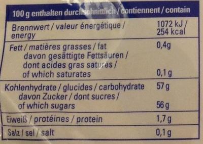 Dattes moëlleuses dénoyautées - Voedingswaarden - fr