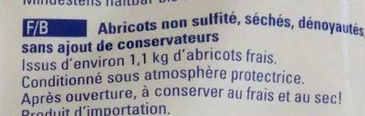 Aprikosen ungeschwefelt - Ingrédients - fr