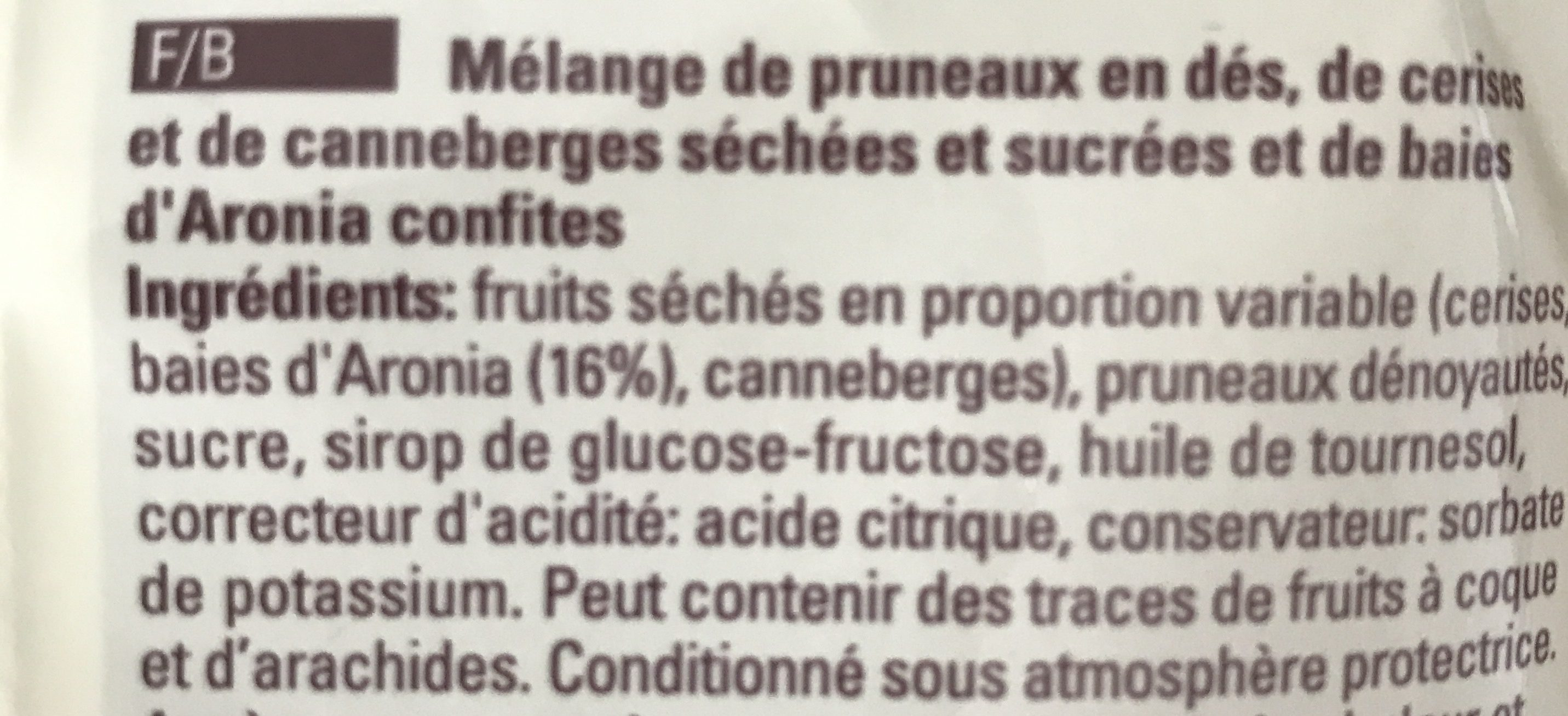 Superfrucht Sélection - Ingredients