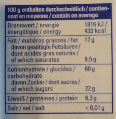 Mikrowellen Popcorn - Informations nutritionnelles - fr