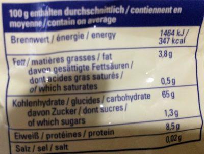 Popcorn-Mais - Maïs à éclater - Voedingswaarden - fr