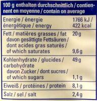 Seeberger Mikrowellen-Popcorn mit Salz-Pfeffer-Geschmack - Informations nutritionnelles - de
