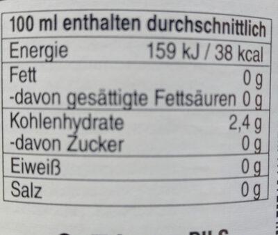 Krombacher - Nutrition facts - de