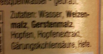 Weizen Alkoholfrei - Ingredienti - de