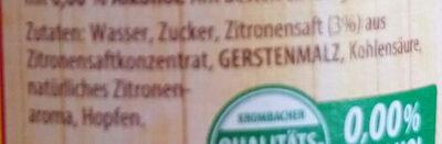 Fassbrause Zitrone - Ingrediënten