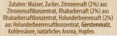 Krombacher's Fassbrause Rhabarber - Ingrédients