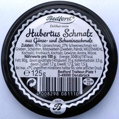 Hubertus Schmalz aus Gänse- und Schweineschmalz - Produkt - de