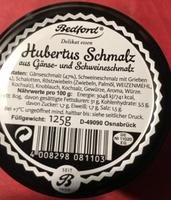 Hubertus Schmalz aus Gänse- und Schweineschmalz - Product - de