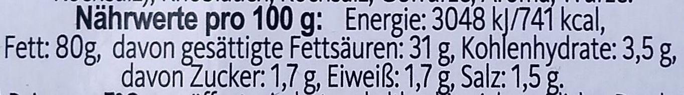 Hubertus Schmalz aus Gänse- und Schweineschmalz - Nährwertangaben - de