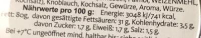 Hubertus Schmalz aus Gänse- und Schweineschmalz - Voedingswaarden - de