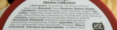 Feine Nürnberger Oblaten-Lebkuchen - Ingrédients
