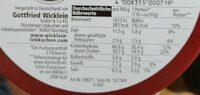 Feine Nürnberger Oblaten-Lebkuchen - Voedingswaarden