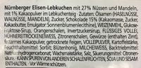 Noir Elisen-Lebkuchen - Ingredients - de