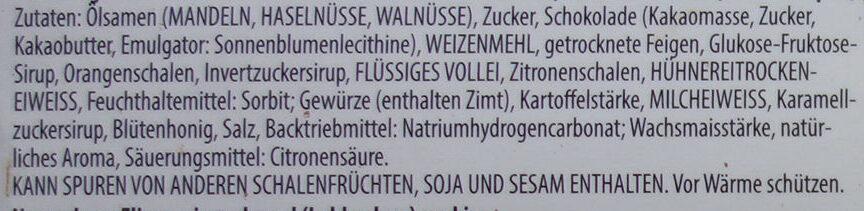 Elisen Lebkuchen mit Marzipan - Zutaten - de