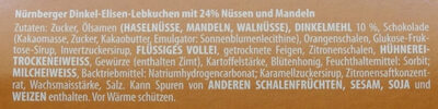 Dinkel Elisen Lebkuchen - Zutaten - de