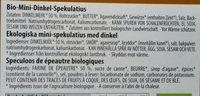 Bio-Mini-Dinkel-Spekulatius - Ingrédients - fr