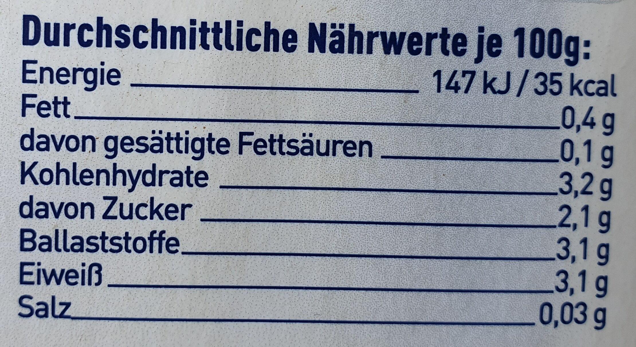 8-Kräuter - Informations nutritionnelles