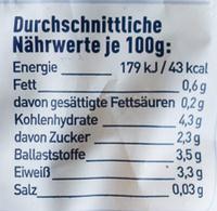 Gemüse Mix deutsche Küche ungewürzt - Informations nutritionnelles - de