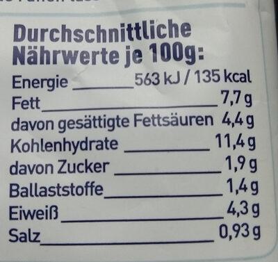 Tortellini Käse-Sahne - Nutrition facts