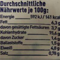 Frosta Tortellini rahmspinat - Nährwertangaben - en