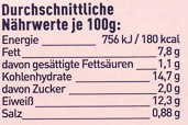 15 Fischstäbchen - Informations nutritionnelles - de