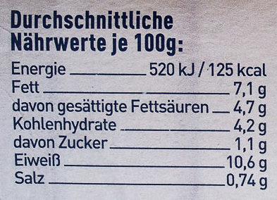 Schlemmerfilet Butter Gemüse - Voedingswaarden - de