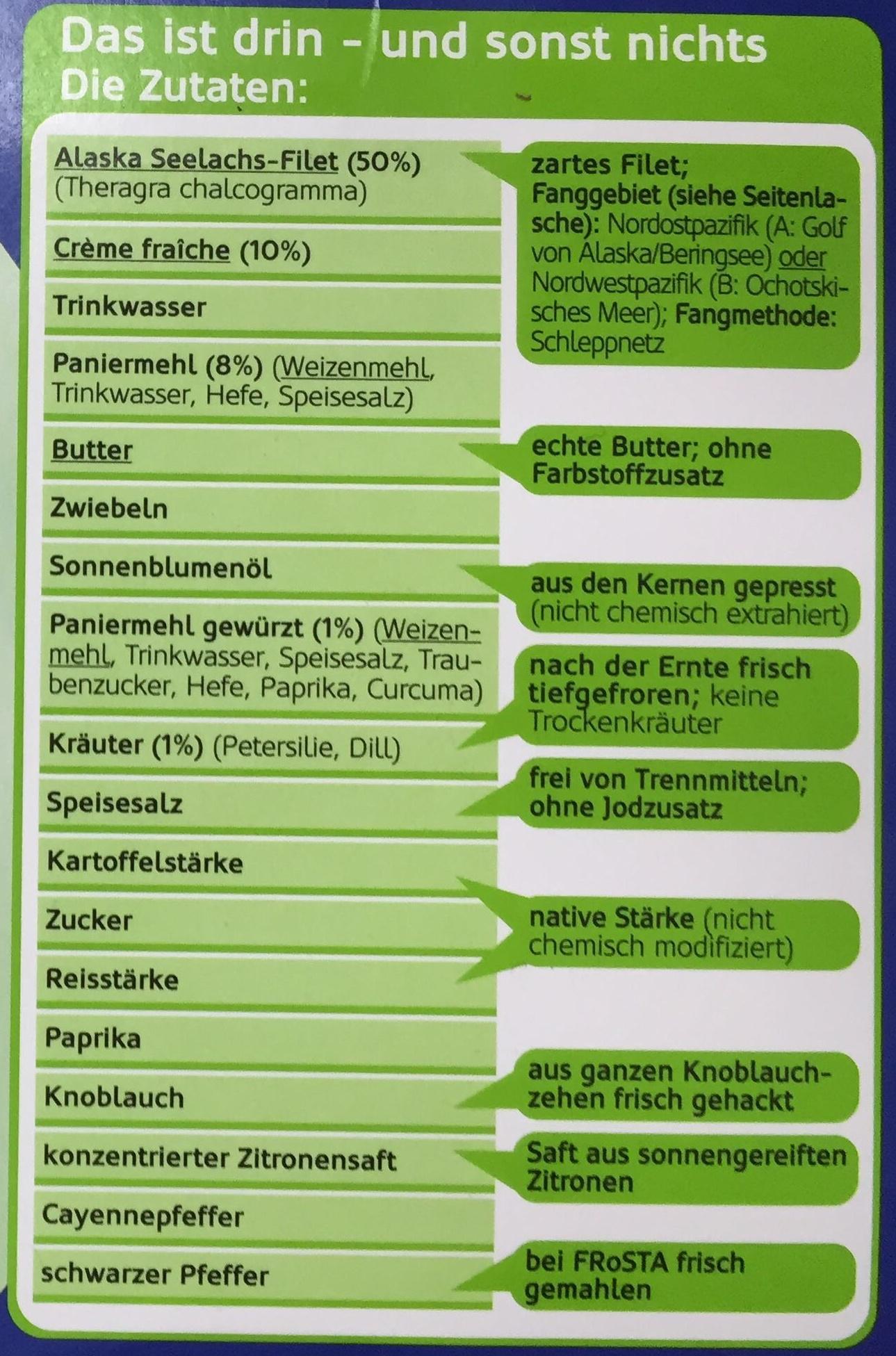 Schlemmerfilet Bordelaise Kräuter-Crème fraîche - Ingredients