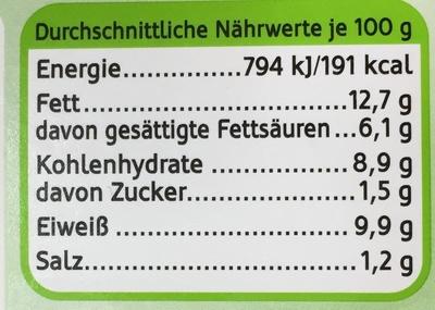 Schlemmerfilet Bordelaise Kräuter-Crème fraîche - Nutrition facts