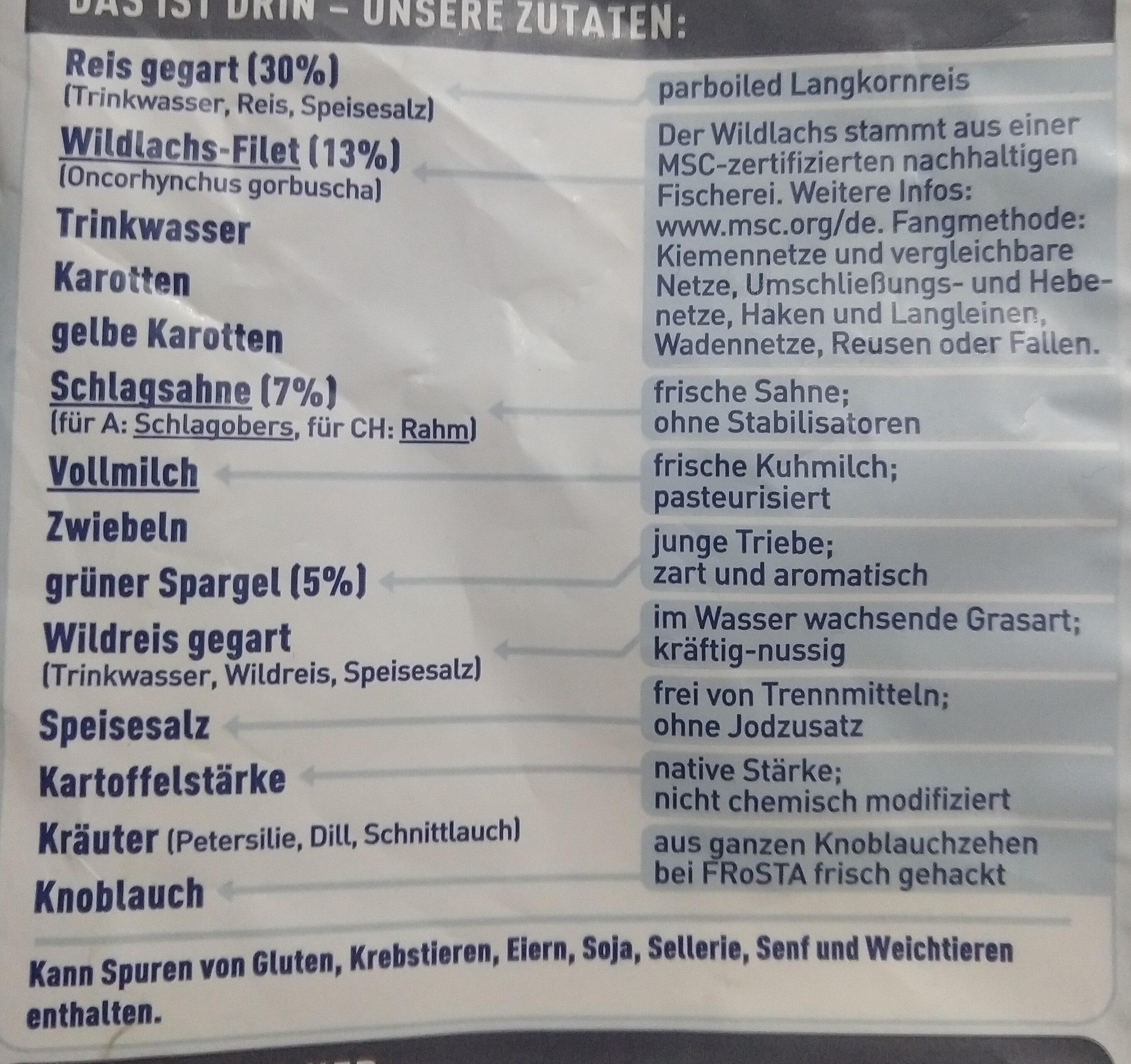 Frosta wildlachs in kräuterrahm - Ingredients - de