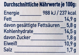 6 knupser Minis Kräuter Frischkäse - Nutrition facts - de