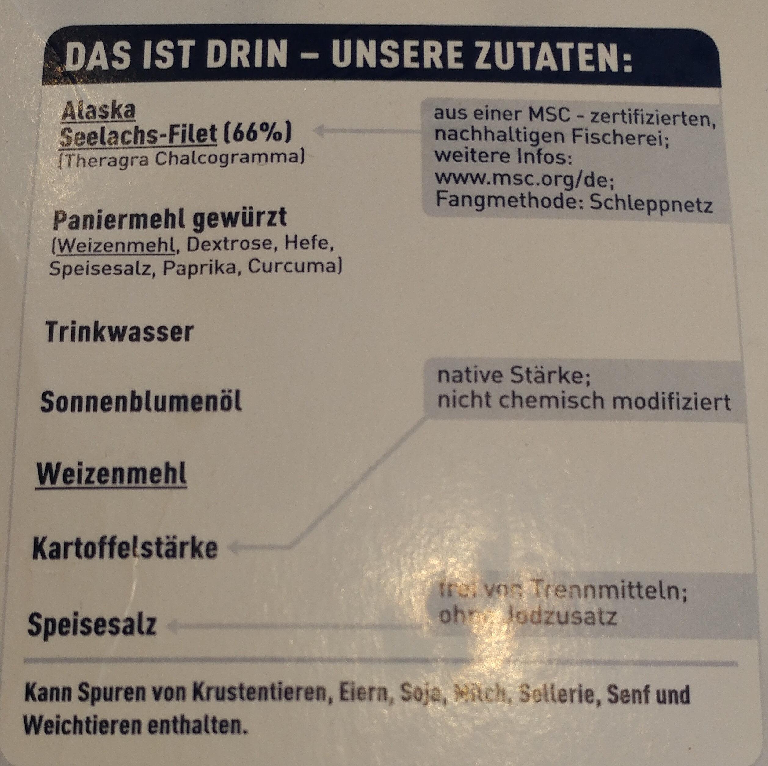 Backofenfisch Knusprig Kross - Ingrédients - de
