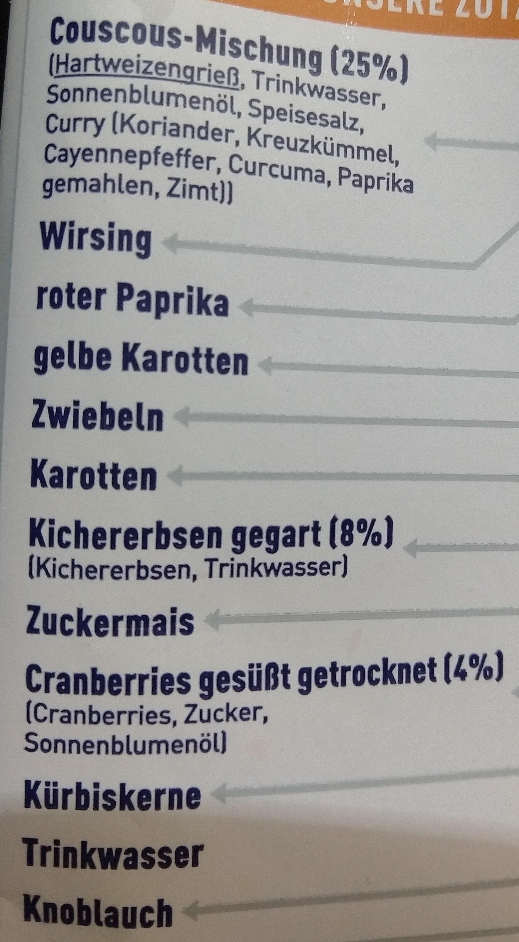 couscous - Ingredients - de