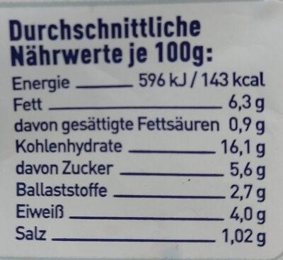 couscous - Nutrition facts - de