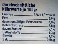 Kohlabi mit Romanesco in Bärlauch-Butter - Nährwertangaben - de