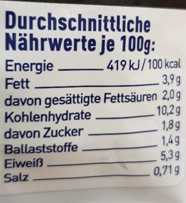 Tagliatelle Wildlachs - Nutrition facts