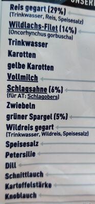 Wildlachs in Kräuterrahm - Zutaten - en
