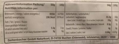 Bio Müsli #569, Schokoladenmüsli - Valori nutrizionali - fr