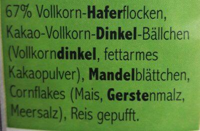 Müsli zuckerarm - Ingredienti - de