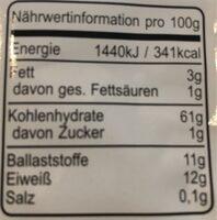 Bio-Flocken - Valori nutrizionali - fr
