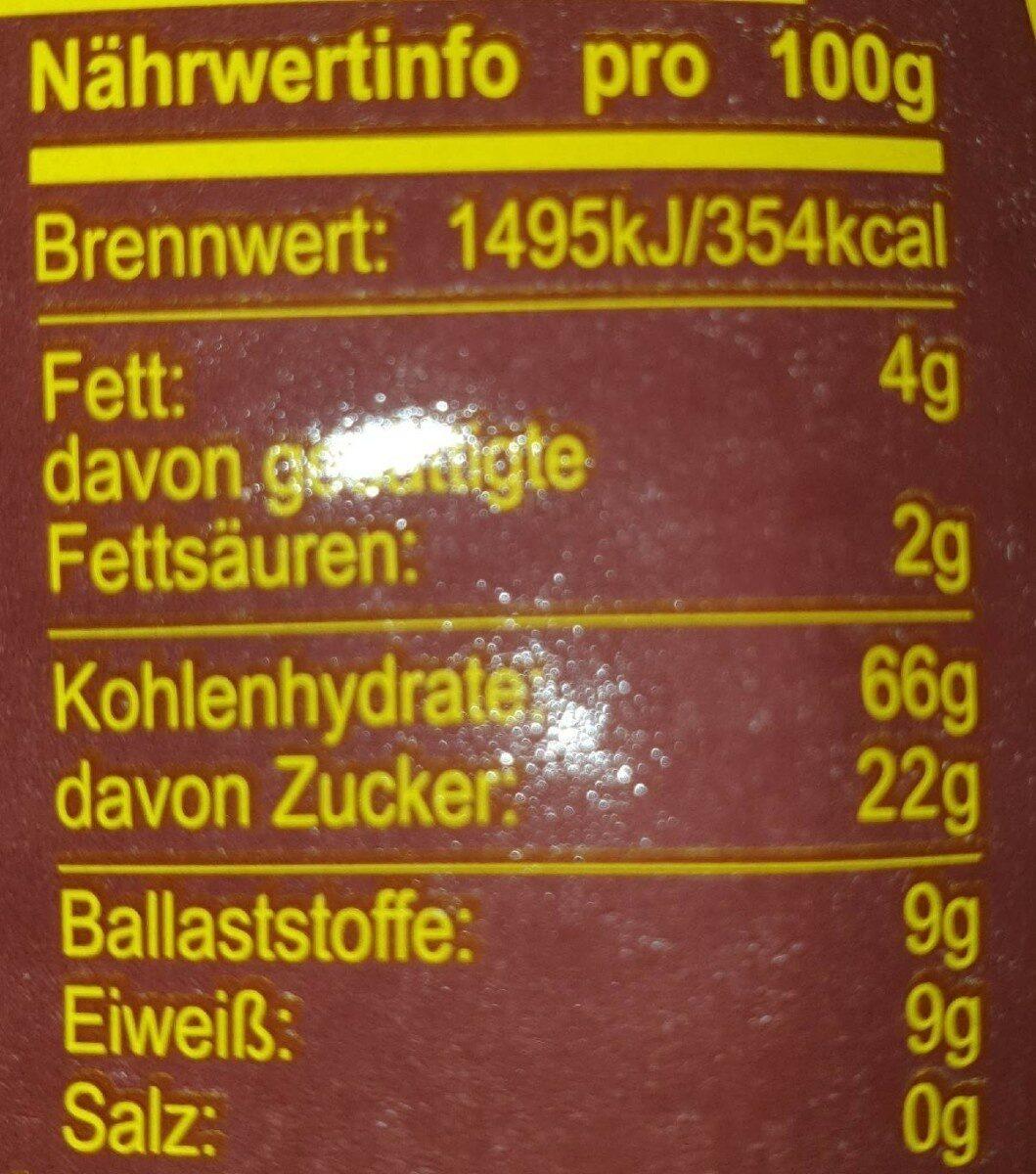 Müsli 054 Confiserie - Valori nutrizionali - fr