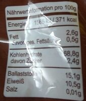 Backmalz - Valori nutrizionali - de
