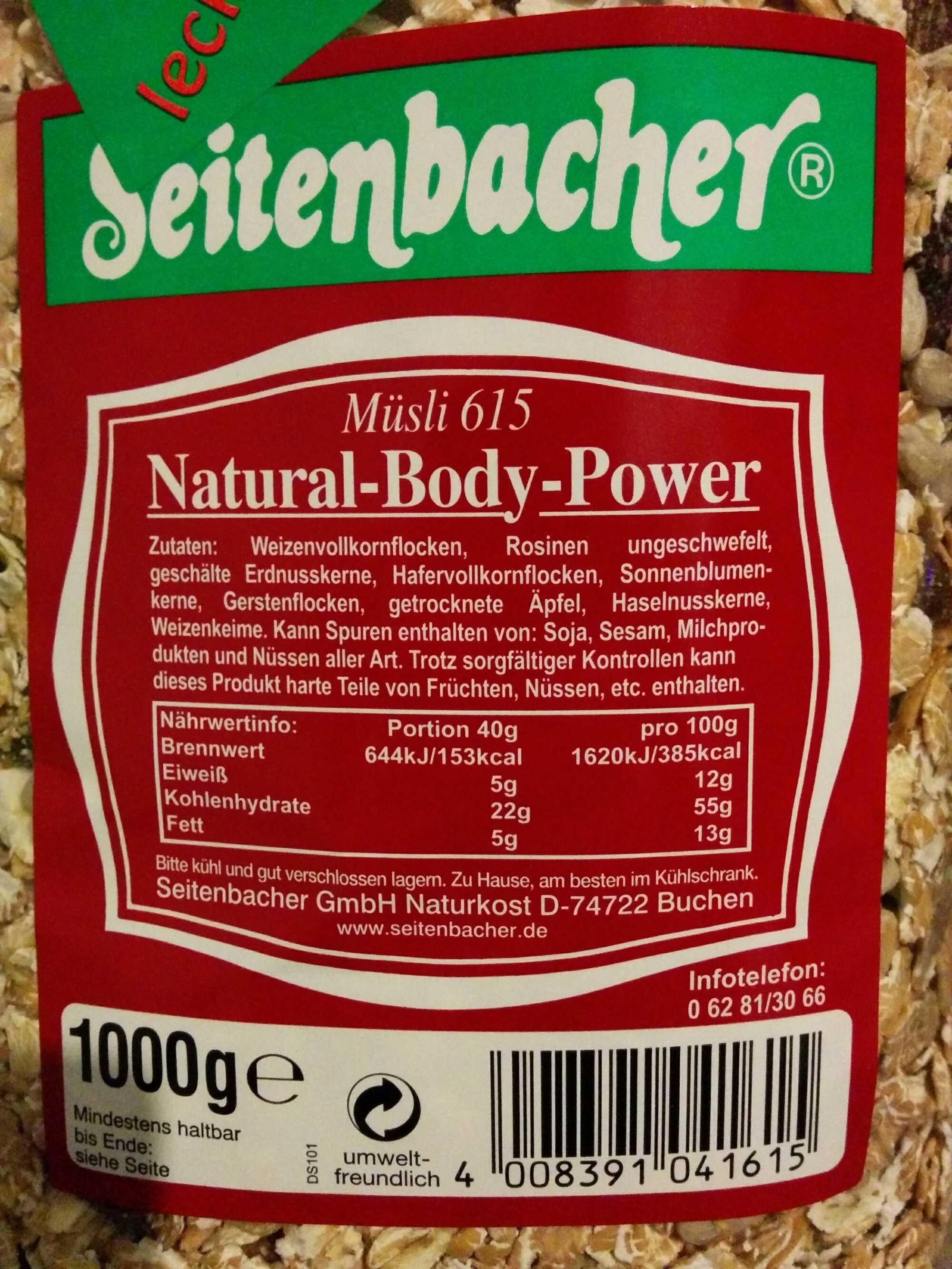 Müsli 615 Natural-Body-Power - Prodotto - de