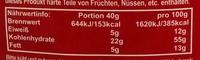 Müsli 615 Natural-Body-Power - Valori nutrizionali - de