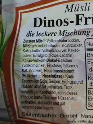 Dinos Frühstück, Haferflocken Und Schoko - Ingredienti - fr