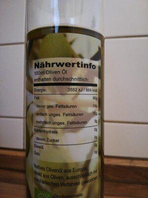 Bio oliven öl - Valori nutrizionali - es