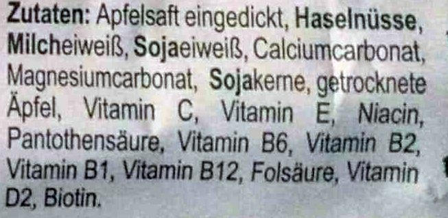 Fitness-Riegel - Ingredients