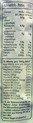 Fitness-Riegel - Nutrition facts