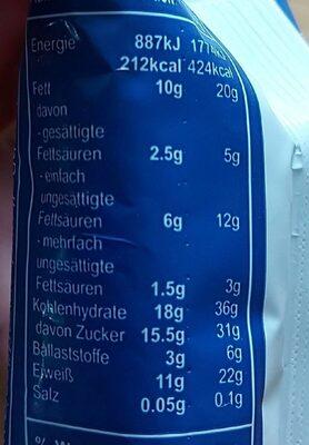 Seitenbacher Fitness Riegel - Valori nutrizionali - de